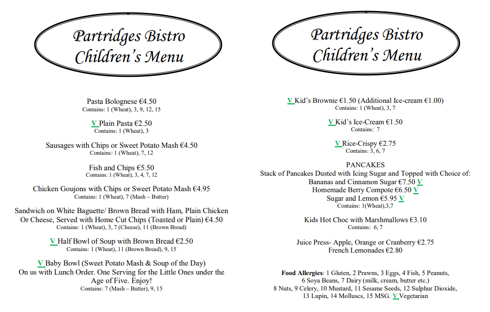 childrens menu may 2018